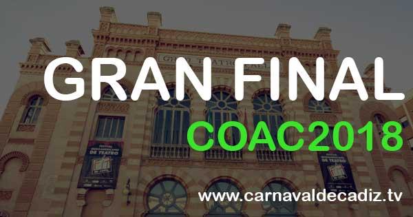 Gran Final COAC 2018 - Viernes 9 de febrero